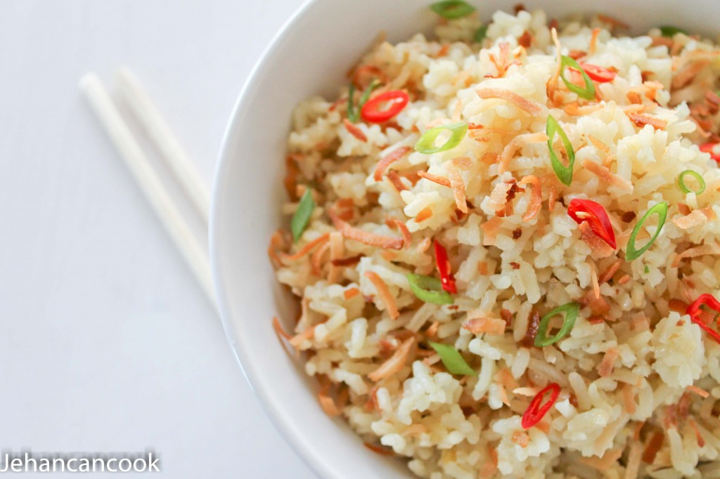 Coconut Ginger Rice - Jehan Can CookJehan Can Cook