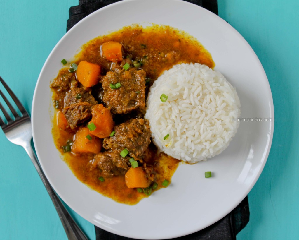 Beef Curry with Pumpkin - Jehan Can CookJehan Can Cook