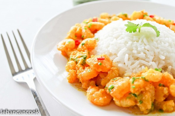 GUYANESE SHRIMP CURRY