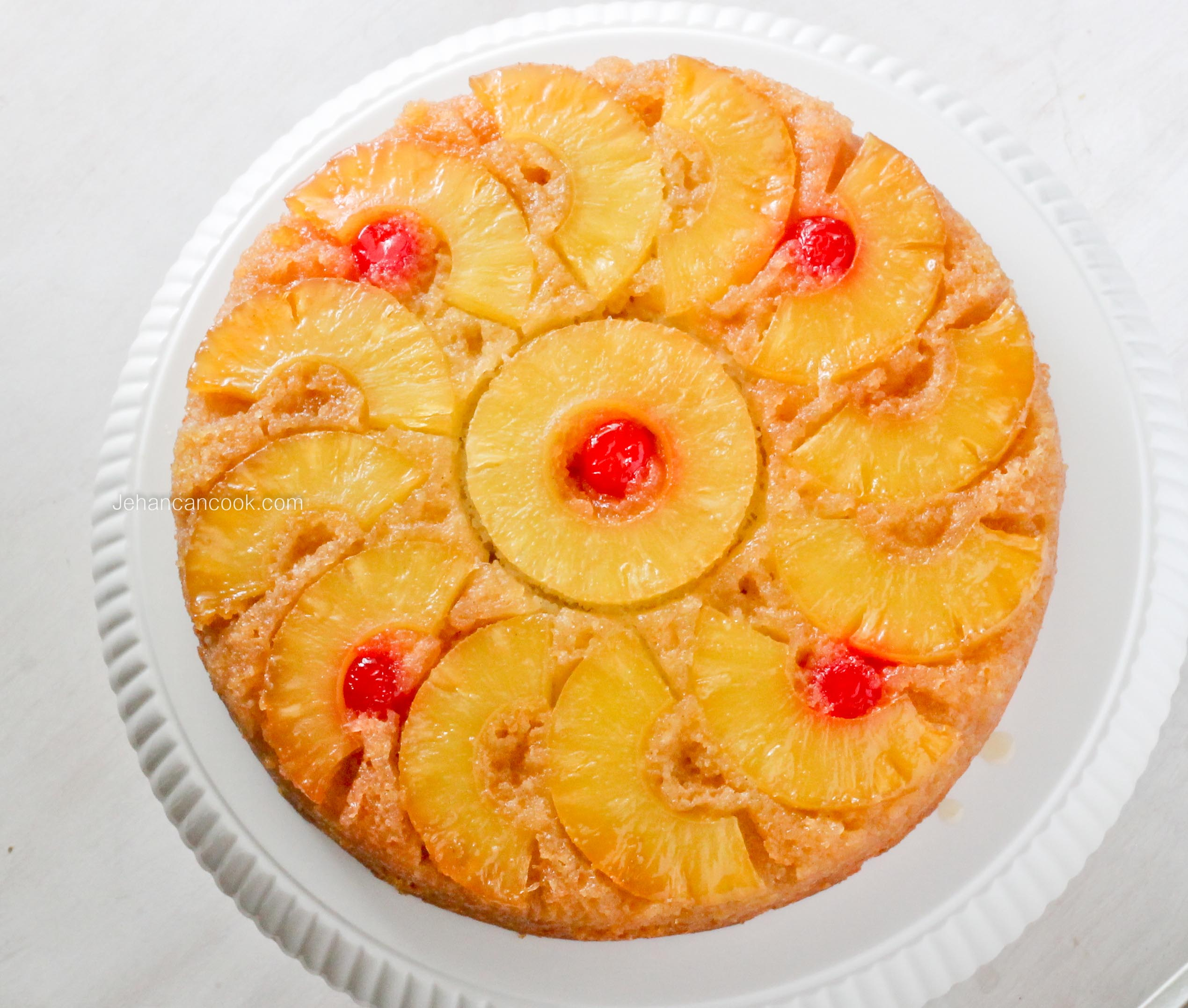 PINEAPPLE UPSIDE DOWN CAKE - Jehan Can CookJehan Can Cook