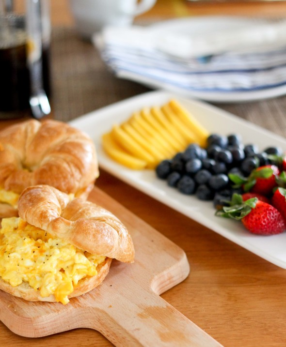 CHEESY SCRAMBLED EGGS AND A SWEET MEMORY WITH COFFEE-MATE