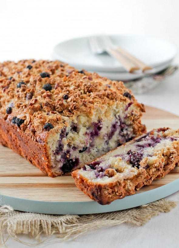 LEMON BLUEBERRY GRANOLA BREAD