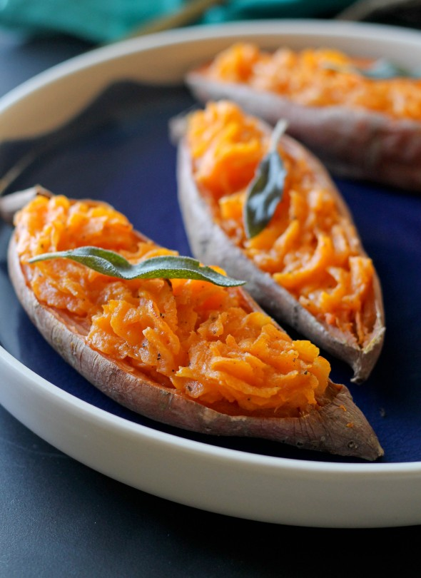 TWICE BAKED SWEET POTATO AND GIVEAWAY